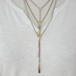 New Lucky Brand Two Tone Layered Necklace